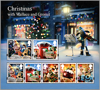 "UK: Christmas ""Wallet and Gromit"" 