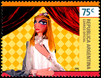 Argentina: Hand Puppet (woman) | Puppet Stamp