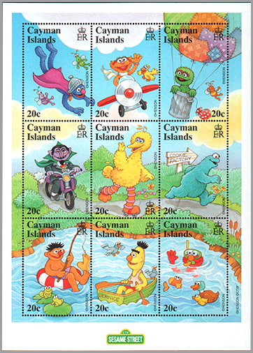 Cayman Islands: Sesame Street characters | Puppet Stamp
