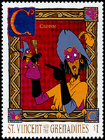 Saint Vincent and the Grenadines: Puppeteer Cropin | Puppet Stamp