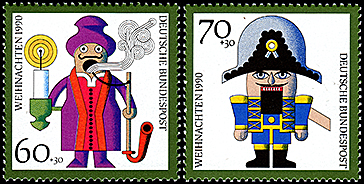 Germany: Regional toys Christmas | Puppet Stamp