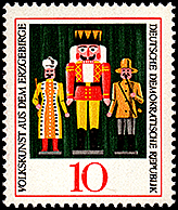 East Germany: Nutcracker 'King of Red' | Puppet Stamp