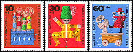 Germany (Old West Berlin): Caliculi toys | Puppet Stamp