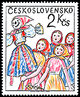Czechoslovakia: Festival of themalott | Puppet Stamp