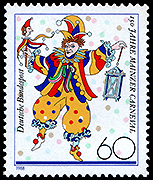 Germany: Clown with Marrott | Puppet Stamp