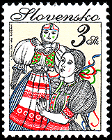 Slovakia: Winter folk event | Puppet Stamp