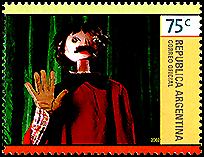 Argentina: Rod puppet | Puppet Stamp
