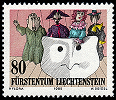 Liechtenstein: Commedia dell'arte (string puppes)